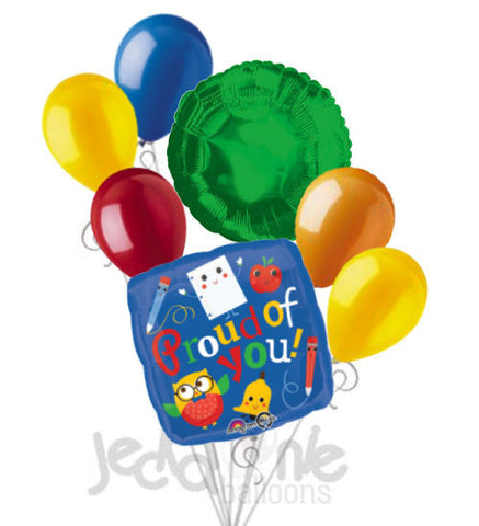 Hip Hip Hooray Proud Owl Grad Balloon Bouquet