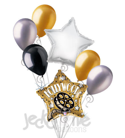 Hollywood Gold Star Party Balloon Bouquet