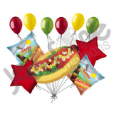 Summer BBQ Hot Dog Happy Birthday Balloon Bouquet
