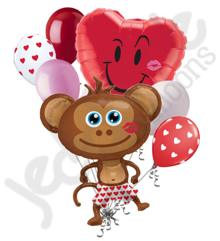 Hunky Monkey Naughty Valentine's Day Balloon Bouquet