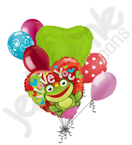 Frog Prince I Love You Balloon Bouquet