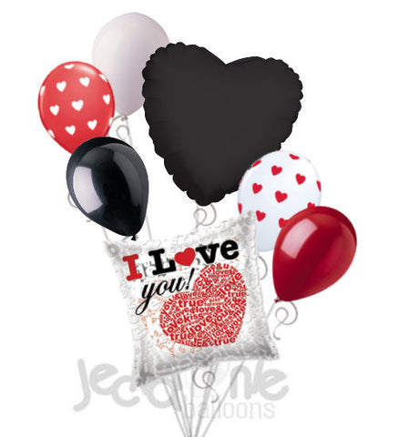 Love Message Heart Balloon Bouquet