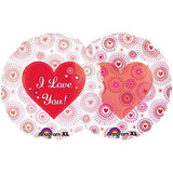 I Love You Heart Bursts on Clear Balloon Bouquet