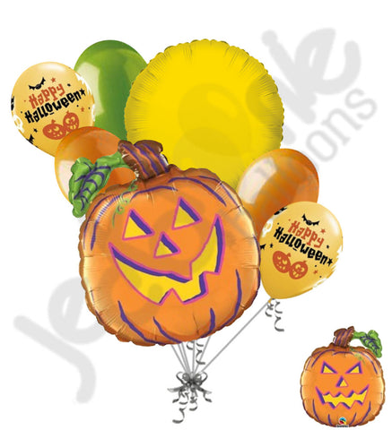 Happy Mean Jack 'O Lantern Pumpkin Halloween Balloon Bouquet