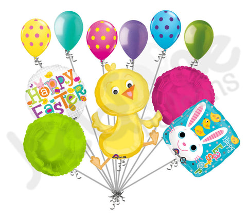 Cute Baby Chick Happy Easter Balloon Bouquet
