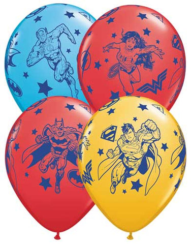 DC Justice League Batman Superman Printed Latex Balloons
