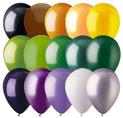 "6 - 48 pc 12"" Halloween Inspired Latex Balloons"