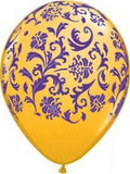 Colorful Damask Latex Balloons