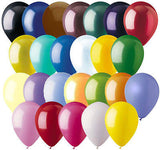 24 pc Solid Latex Balloons