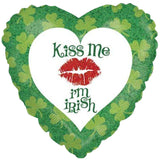 Kiss Me I'm Irish St. Patrick's Day Balloon Bouquet