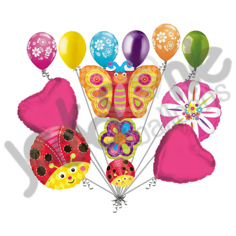 Butterfly, Flower, & Ladybug Stacker Balloon Bouquet