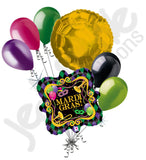 Mardi Gras Party Marquee Holographic Balloon Bouquet