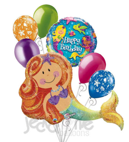 Merry Mermaid Happy Birthday Balloon Bouquet