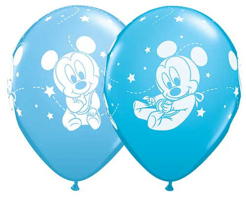 Baby Mickey Mouse Stars Latex Balloons