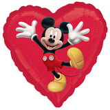 Disney Mickey Mouse Red Heart Balloon Bouquet
