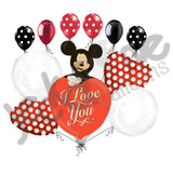 Disney Mickey Mouse I Love You Balloon Bouquet