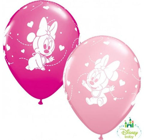 Baby Minnie Mouse Stars Latex Balloons
