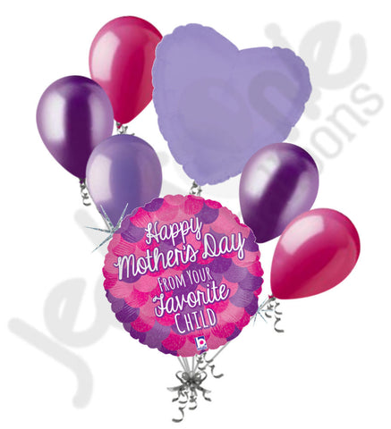 Favorite Child Happy Mother's Day Balloon Bouquet