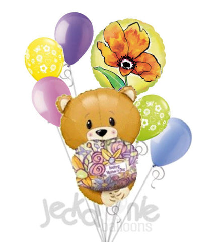 Happy Mother's Day Bear Hug Balloon Bouquet
