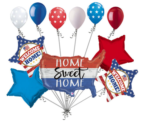 Patriotic Home Sweet Home America Balloon Bouquet