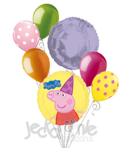 Peppa Pig Birthday Party Hat Balloon Bouquet
