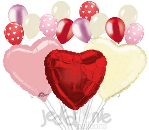 Huge Hearts Valentine's Day I Love You Balloon Bouquet