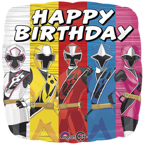 Power Rangers Ninja Steel Happy Birthday Balloon Bouquet