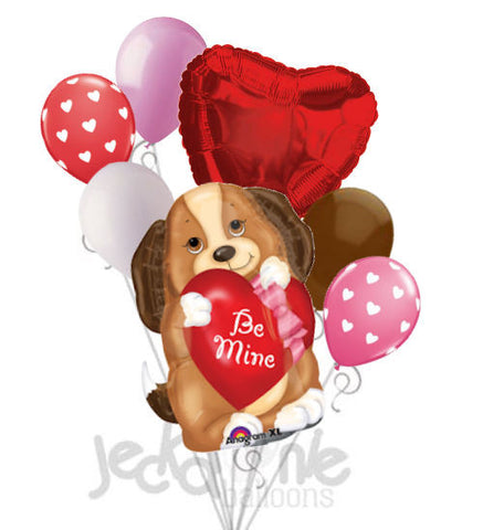 Puppy Love Be Mine Balloon Bouquet