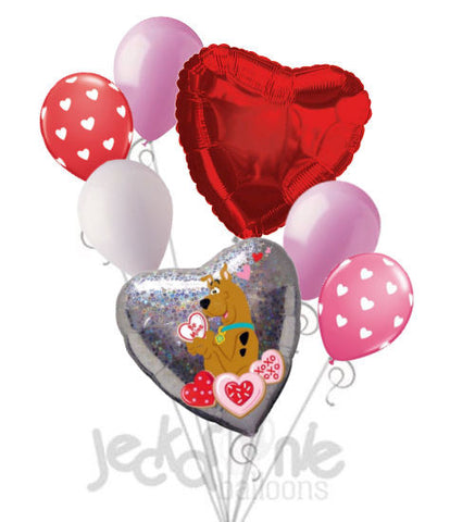 Scooby-Doo Be Mine Love Balloon Bouquet