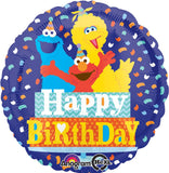 Sesame Street Happy Birthday Confetti Balloon Bouquet