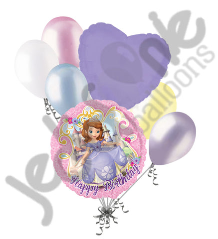 Disney Princess Sofia the First Happy Birthday Balloon Bouquet