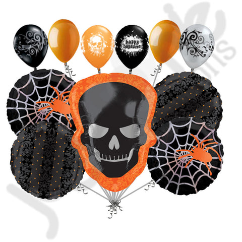 Sophisticated Skeleton Happy Halloween Balloon Bouquet