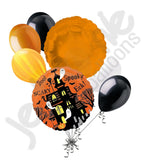 Spooky Haunted House Ghost Halloween Balloon Bouquet
