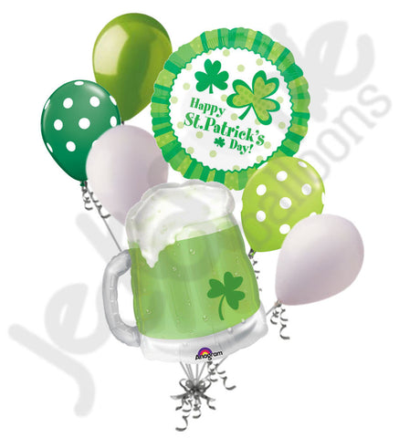 Green Beer & Clover St. Patrick's Day Balloon Bouquet