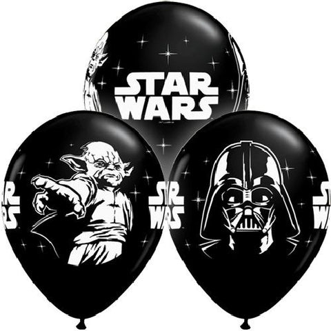 Star Wars Onyx Black Latex Balloons