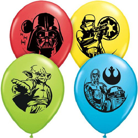 Star Wars Characters Colorful Latex Balloons