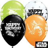 Star Wars Characters Happy Birthday Latex Balloons