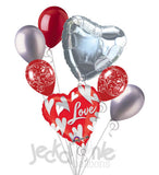 Swirling Hearts I Love You Balloon Bouquet
