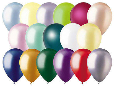 12 pc Pearl Finish Latex Balloons