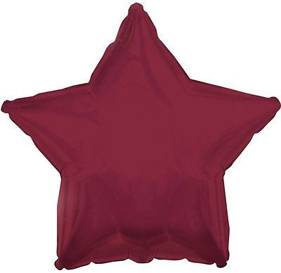 Maroon Star Decorator Balloon
