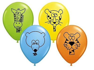 Qualatex Jungle Animal Print Latex Balloons