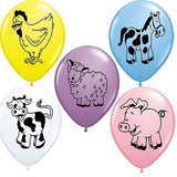 Farm Animal Latex Balloons
