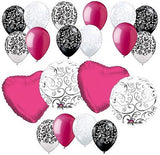 **~~MANY COLORS~~** Elegant Swirls & Colorful Wedding Hearts Balloon Bouquet