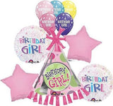Birthday Girl Party Hat Balloon Bouquet