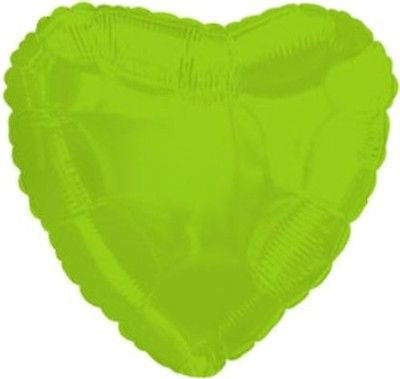 Lime Green Heart Decorator Balloon