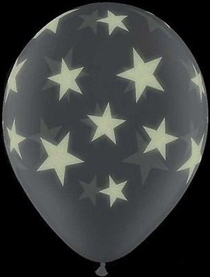 Glow in Dark Stars Latex Balloons