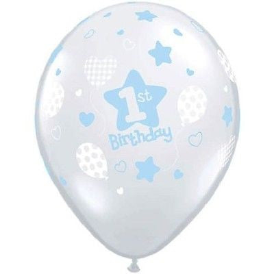 Baby Boy Soft 1st Birthday Latex Balloons