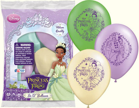 Disney Princess & the Frog Tiana Latex Balloons