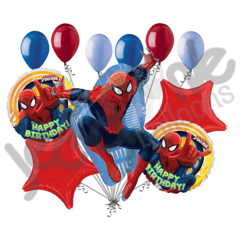 Amazing Spiderman Happy Birthday Balloon Bouquet