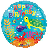 Under the Sea Fun Happy Birthday Balloon Bouquet